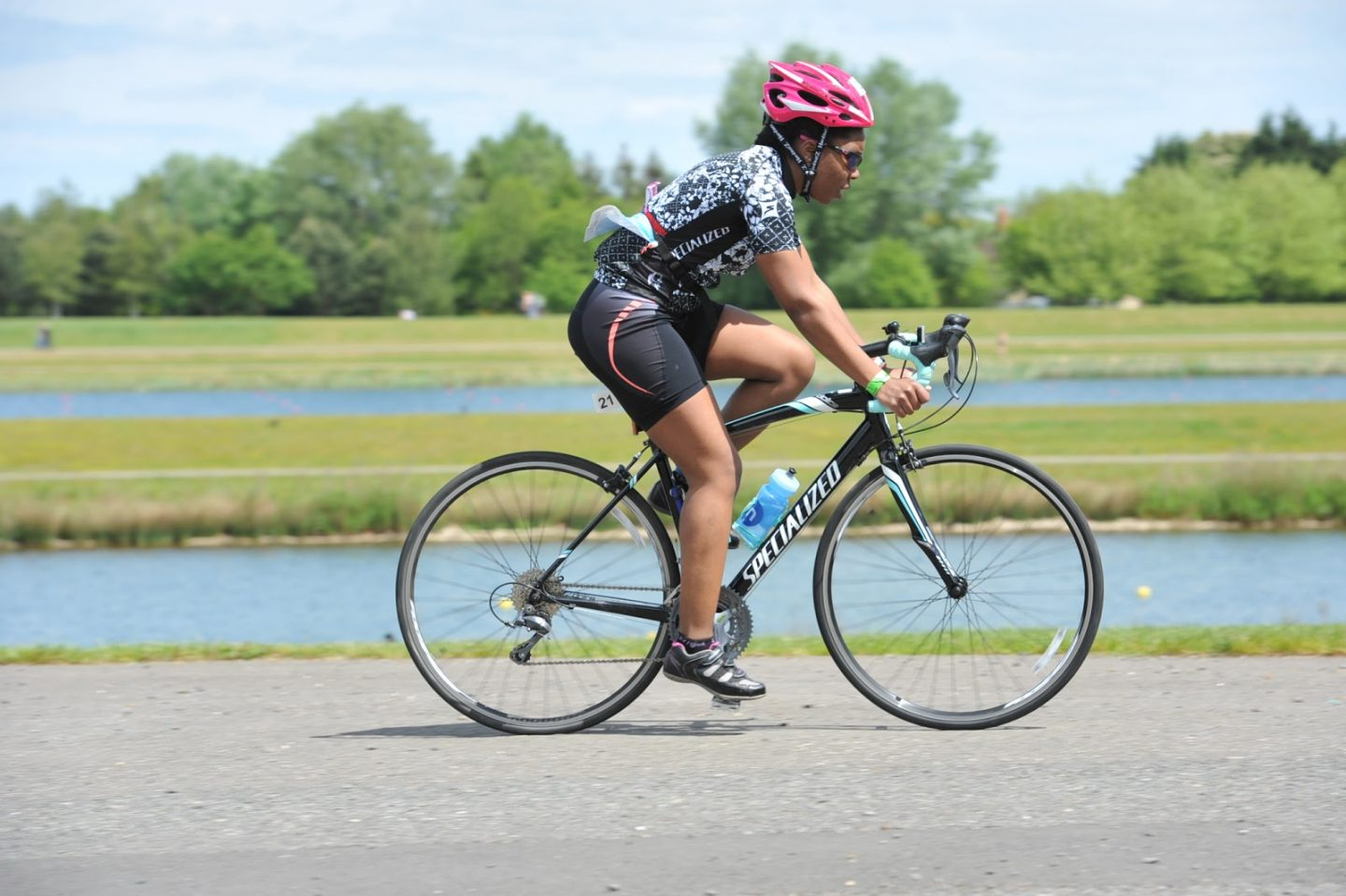 cycling during my first triathlon
