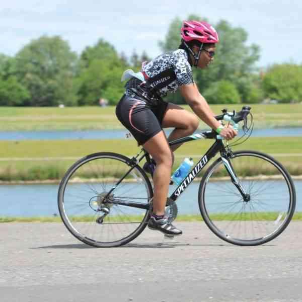 cycling during my first triathlon