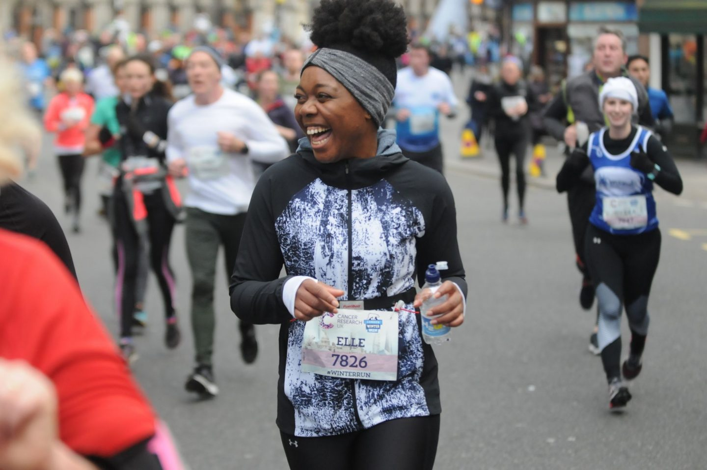 london winter run 2018 race photo of elle