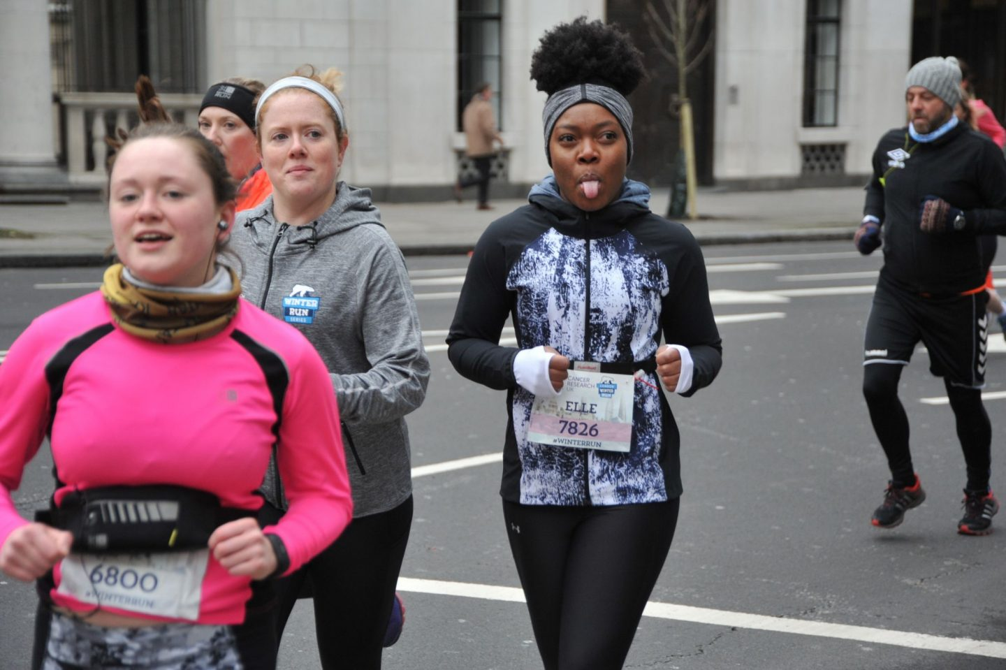 Elle Linton London Winter Run 2018 Race Photo
