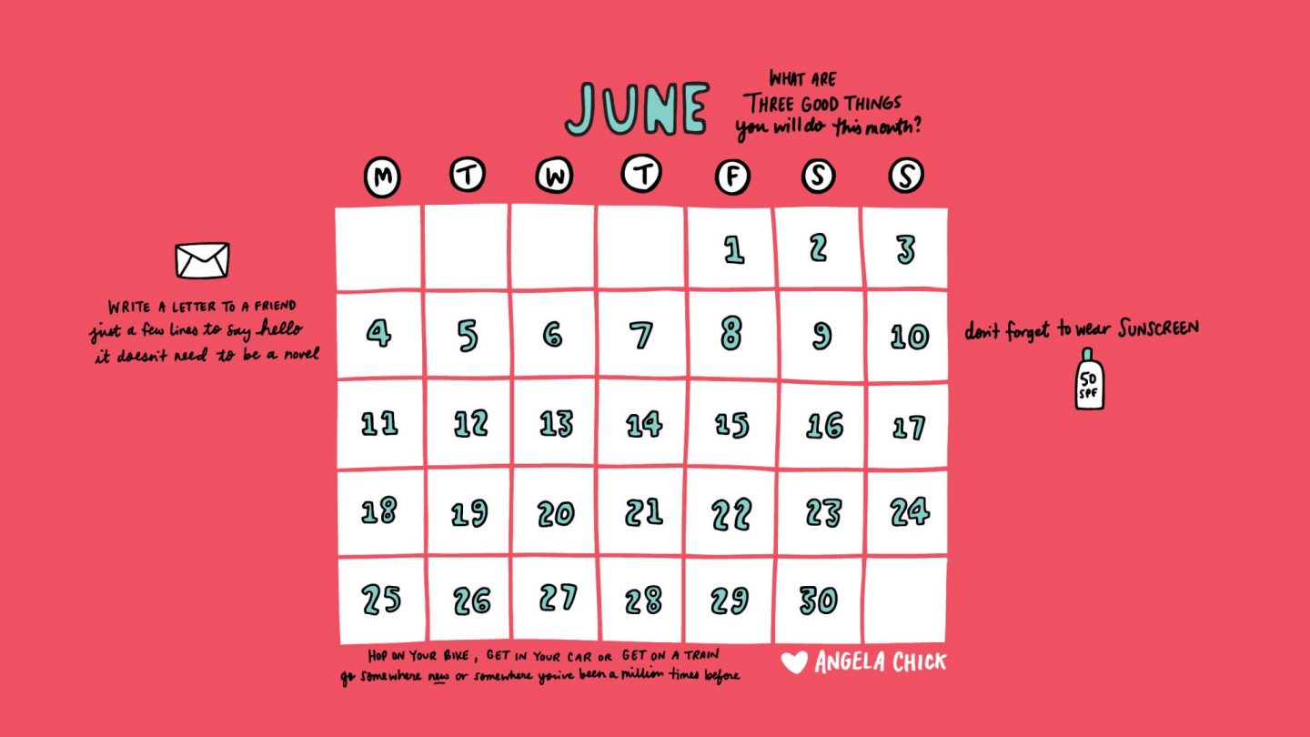 YOUR FREE JUNE 2018 CALENDAR DOWNLOAD