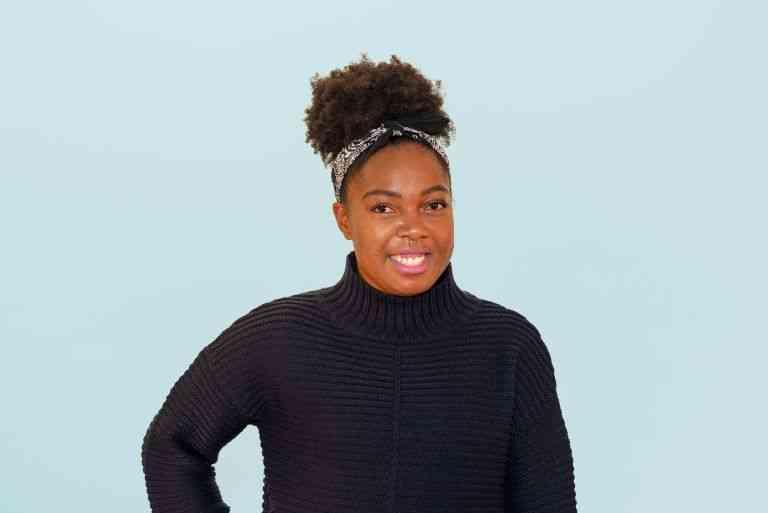 portrait shot of Elle - afro hair feature