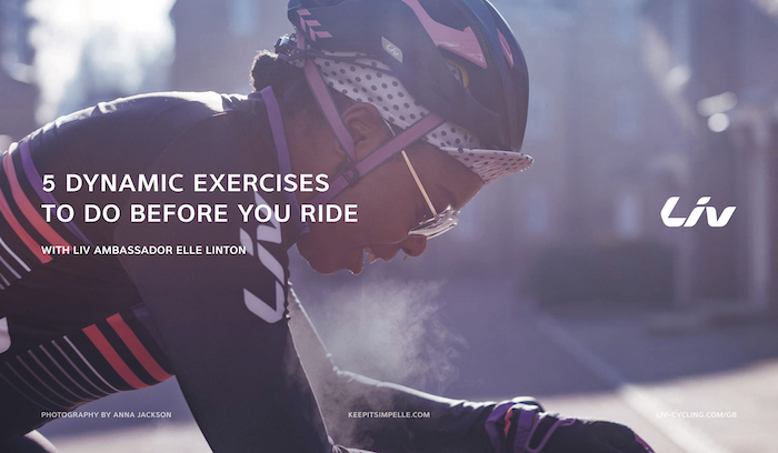 dynamic exercises to warm up for cycling