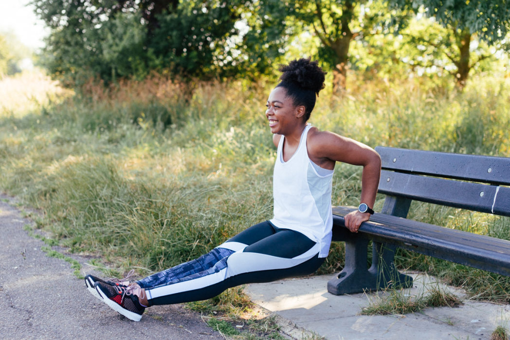 Park Workout  - Tricep Dips