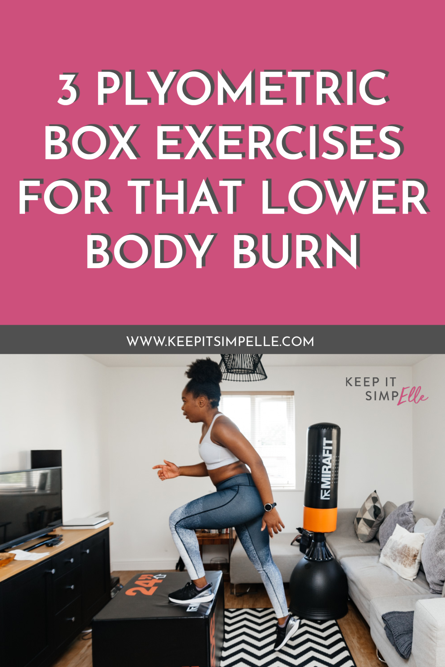 3 Plyometric Box Exercises For That Lower Body Burn pinterest image