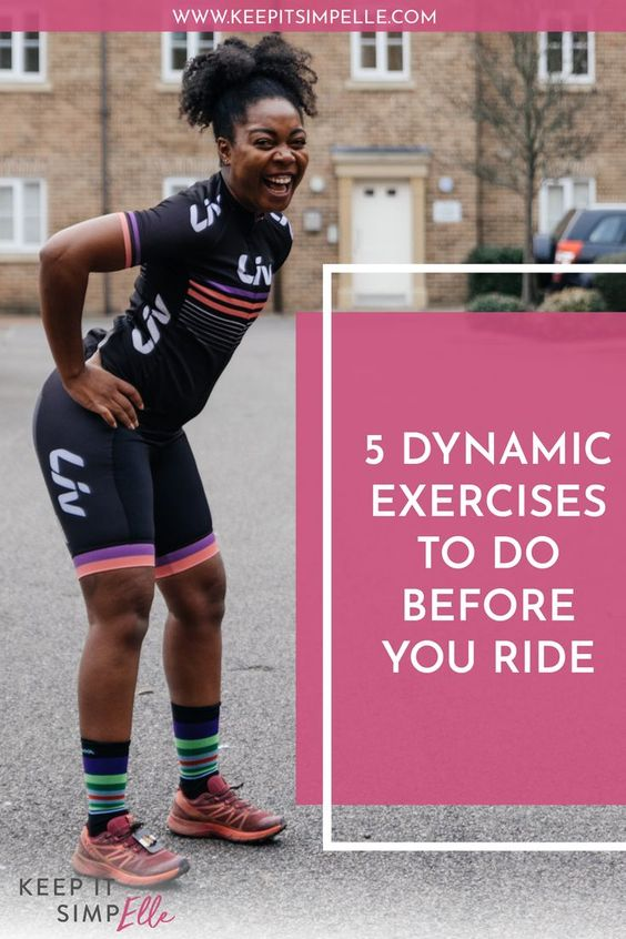 pinterest image for dynamic cycling exercises blog post