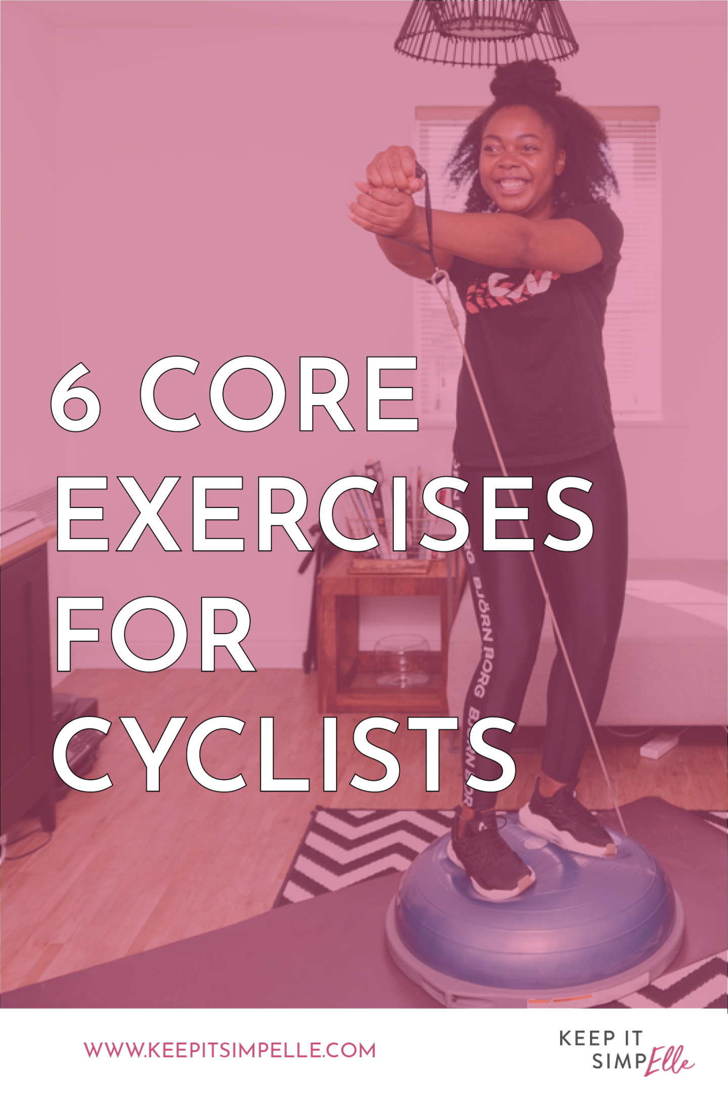 6 Core Exercises For Cyclists Pinterest Image
