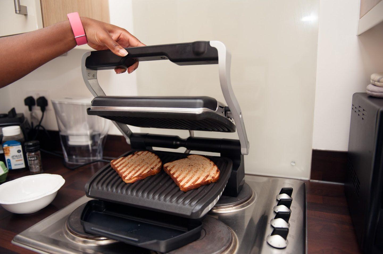 Tefal Optigrill Two Minute Avocado & Bacon on Toast