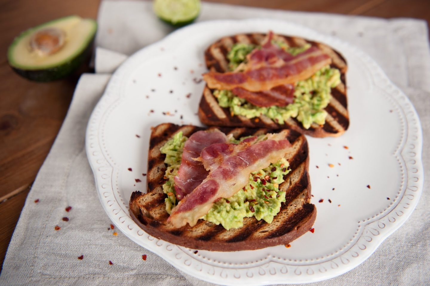 Tefal Optigrill Two Minute Avocado & Bacon on Toast