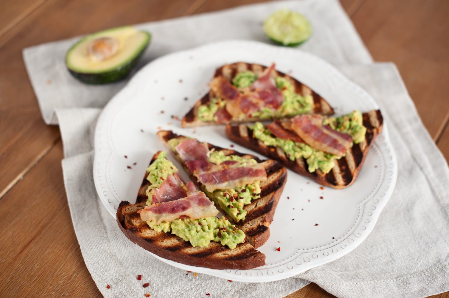 Two Minute Avocado & Bacon on Toast