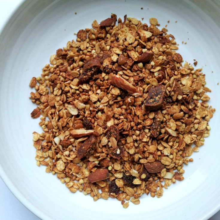 Crunchy Fig and Almond Granola