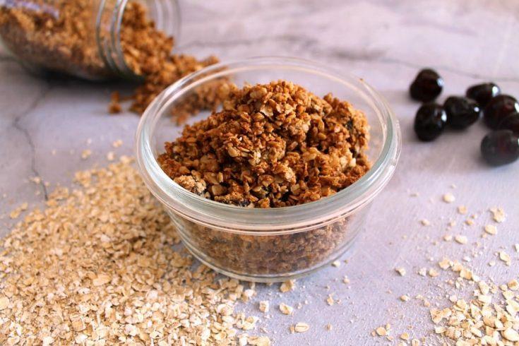 Cherry Almond Butter Granola