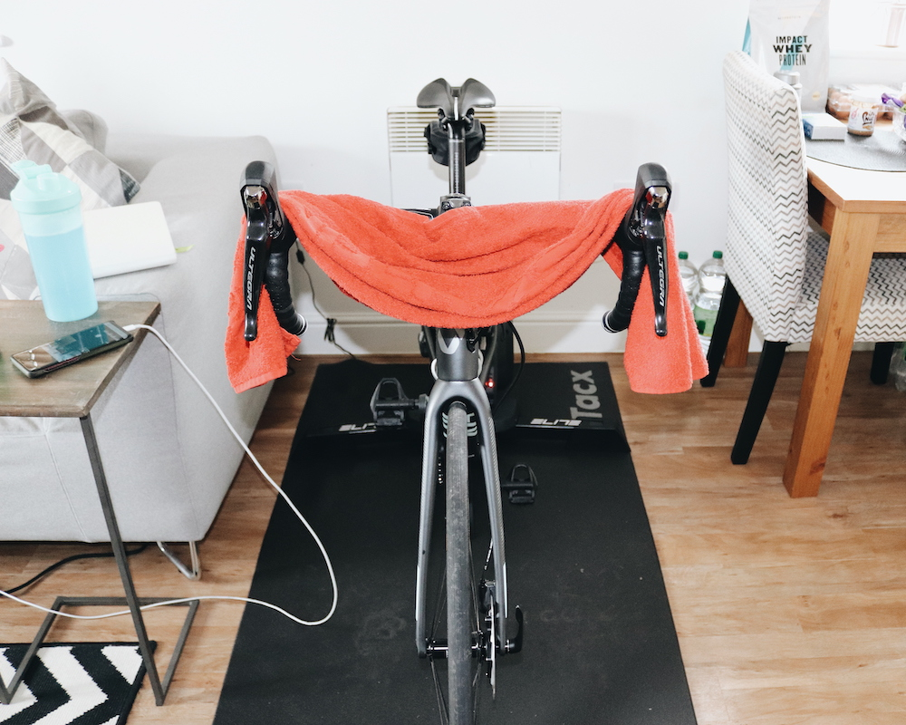 indoor cycling trainer set up