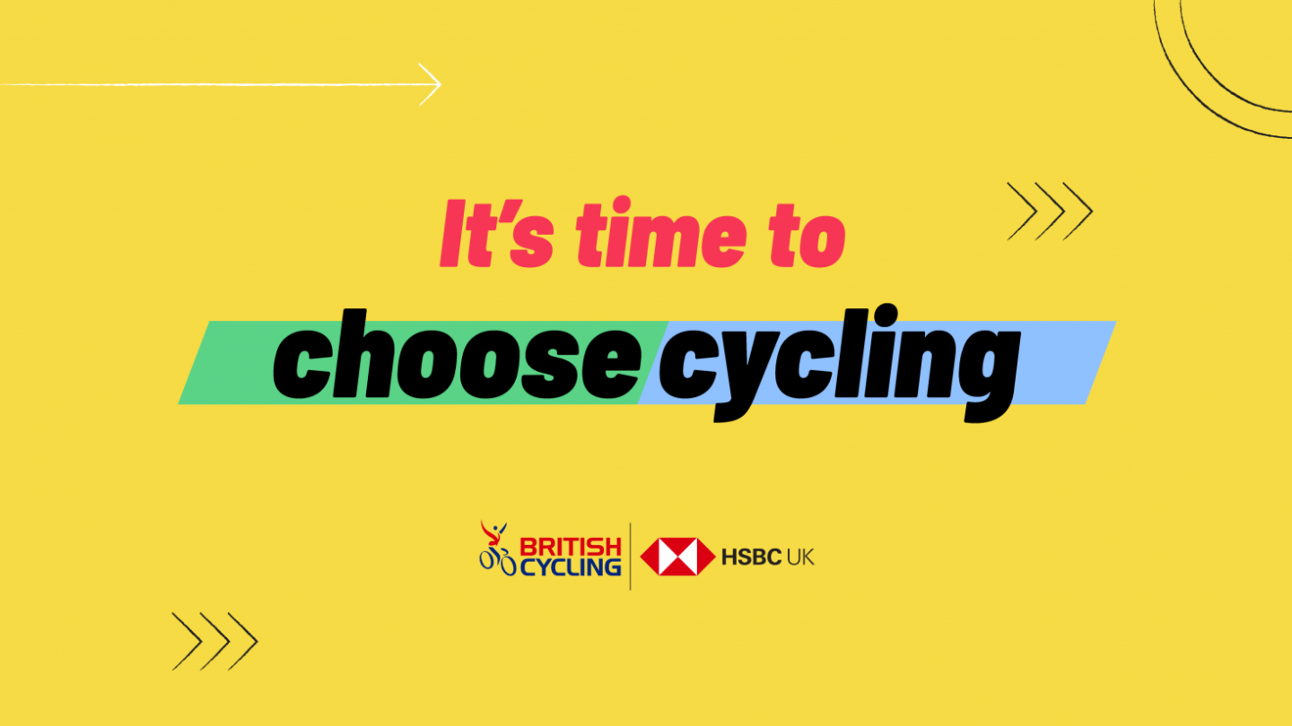 British Cycling It's Time To Choose Cycling Text Image