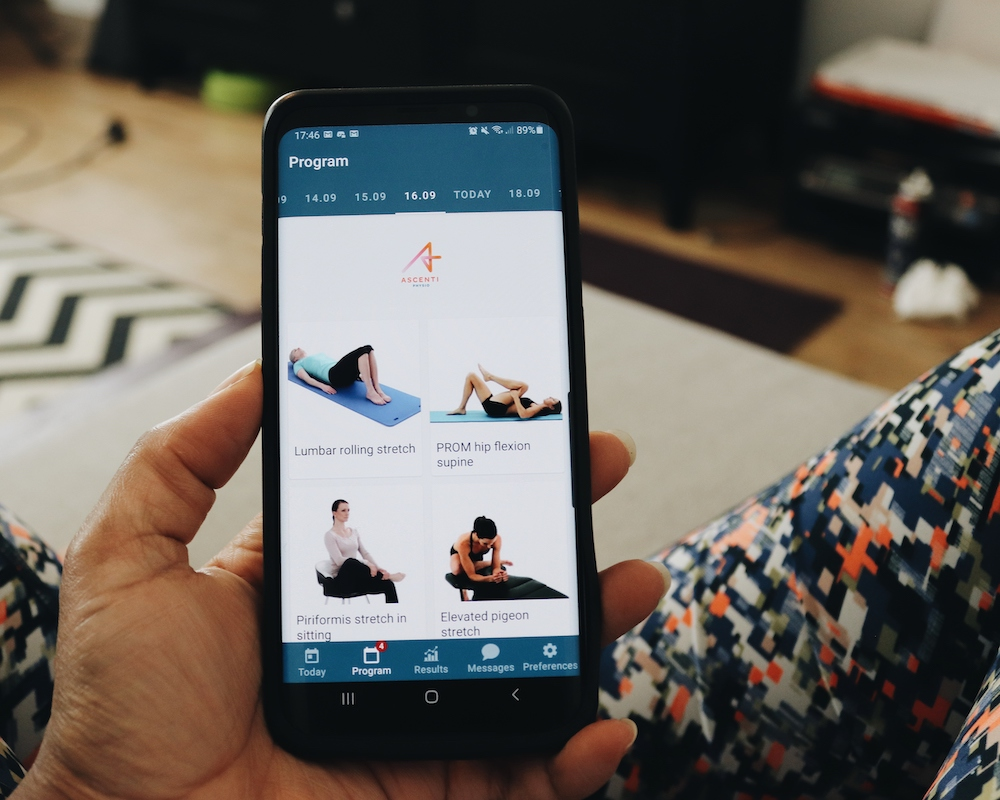 Prescribed Physiotherapy Exercises from Ascenti Online Physio