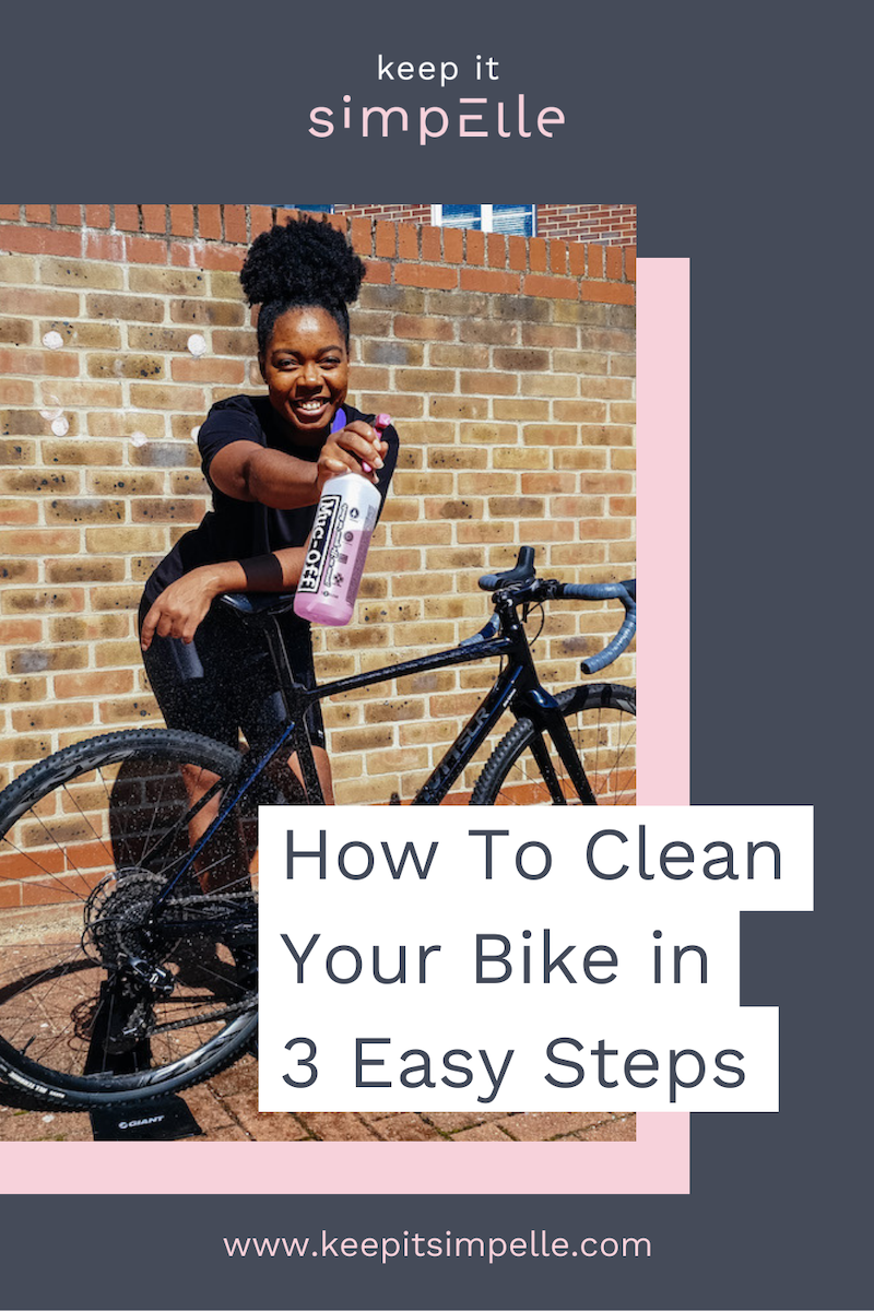 how to clean your bike in 3 steps pin