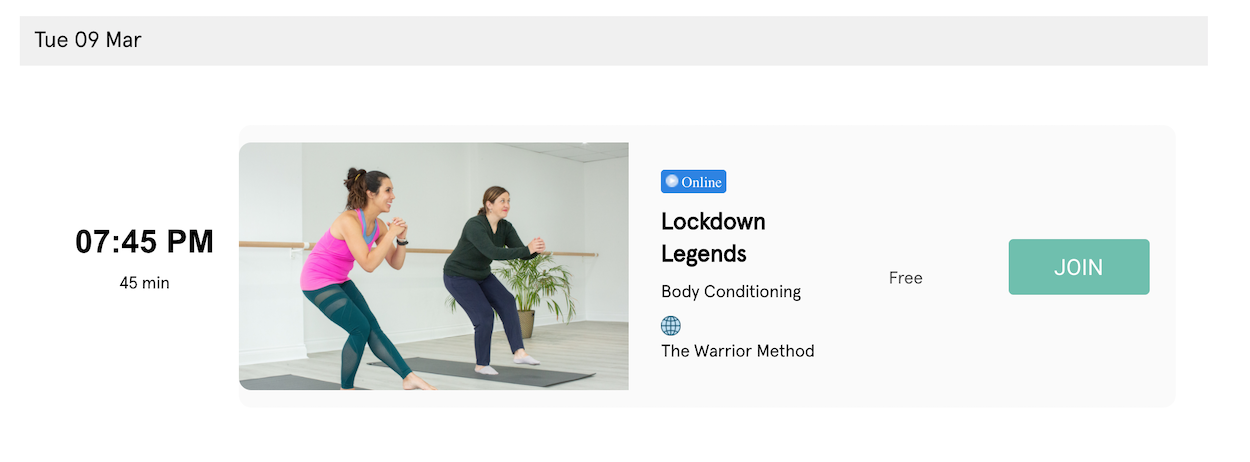 Fitune Review - Fitnes Class Booking System