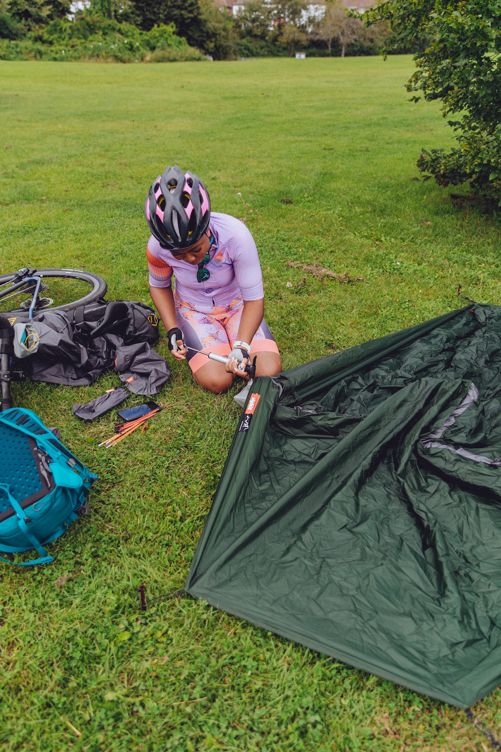 Practice Pitching Your Tent - Bikepacking For Beginners Tip
